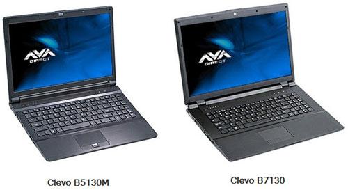 AVA Direct Clevo B5130M и Clevo B7130