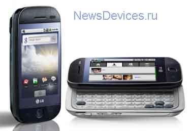 LG GW620 Android смартфон